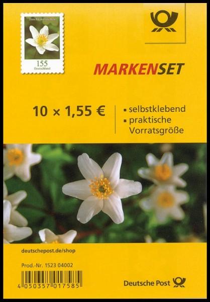 Markenset 10x1,55€ Buschwindröschen Selbstklebend
