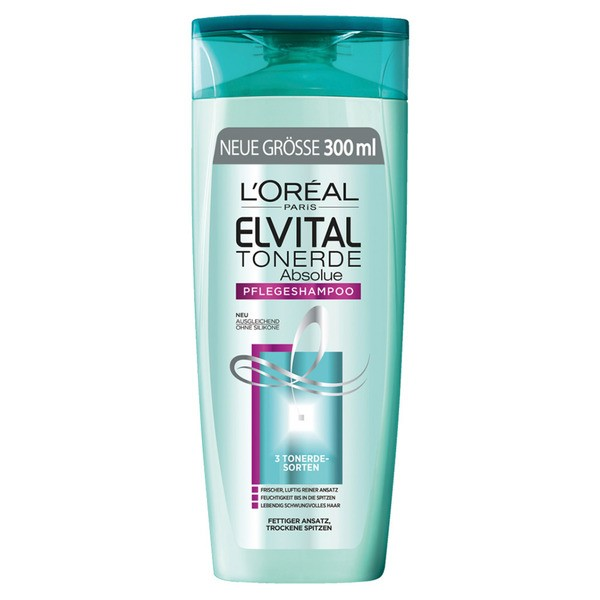 L'Oréal Paris Elvital Shampoo Tonerde Absolue, 400 ml