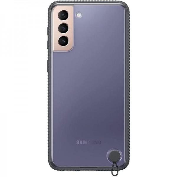 Original Samsung Clear Protective Cover EF-GG996 für Galaxy S21+ 5G, Black
