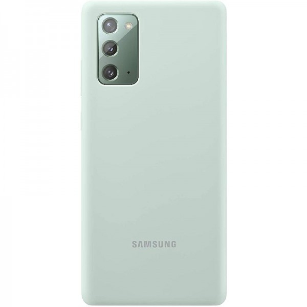 Original Samsung Silicone Cover EF-PN985 für Galaxy Note20 Ultra 5G, Grün