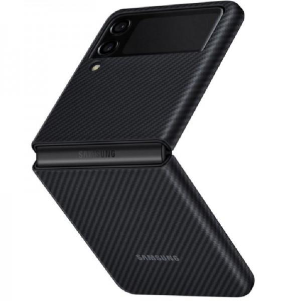 Original Samsung Aramid Cover für das Galaxy Z Flip3 5G, Black