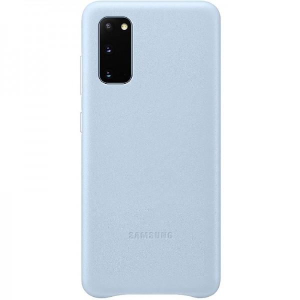 Original Samsung Leather Smartphone Cover EF-VG980 für Galaxy S20 | S20, blau