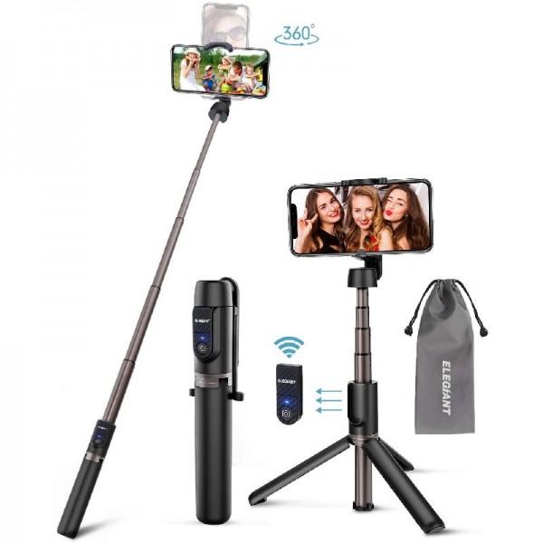 ELEGIANT Selfie Stick Stativ, Bluetooth 3 in 1 Selfiestick Selfie Stange Stab mit abnehmbar Fernbedi