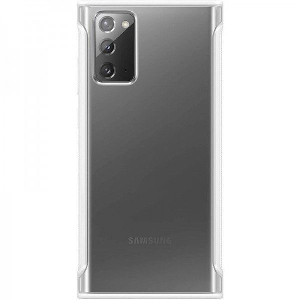 Original Samsung Clear Protective Cover EF-GN980 für Note20, weiß